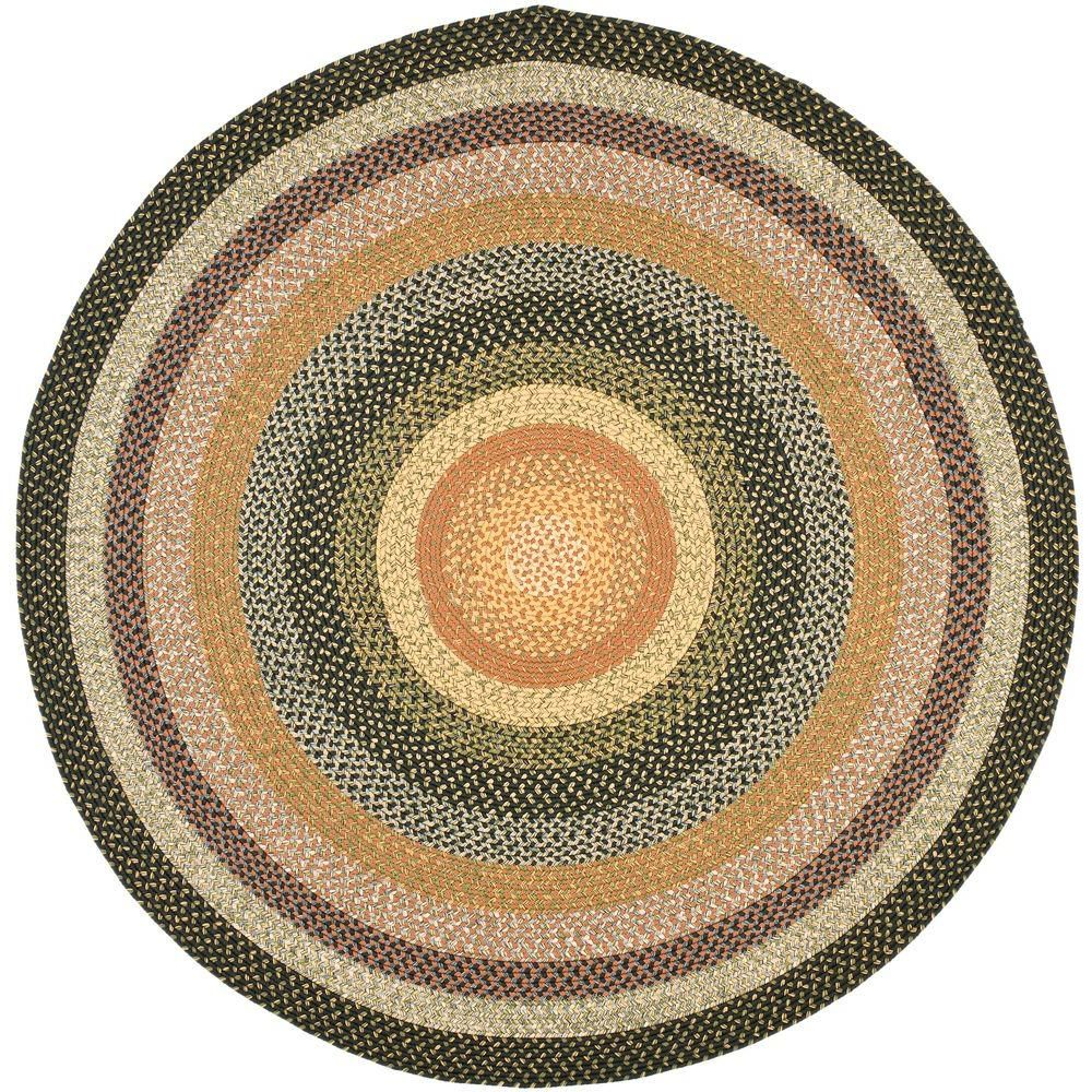Safavieh Braided Blue Multi 6 Ft X 6 Ft Round Area Rug Brd308a
