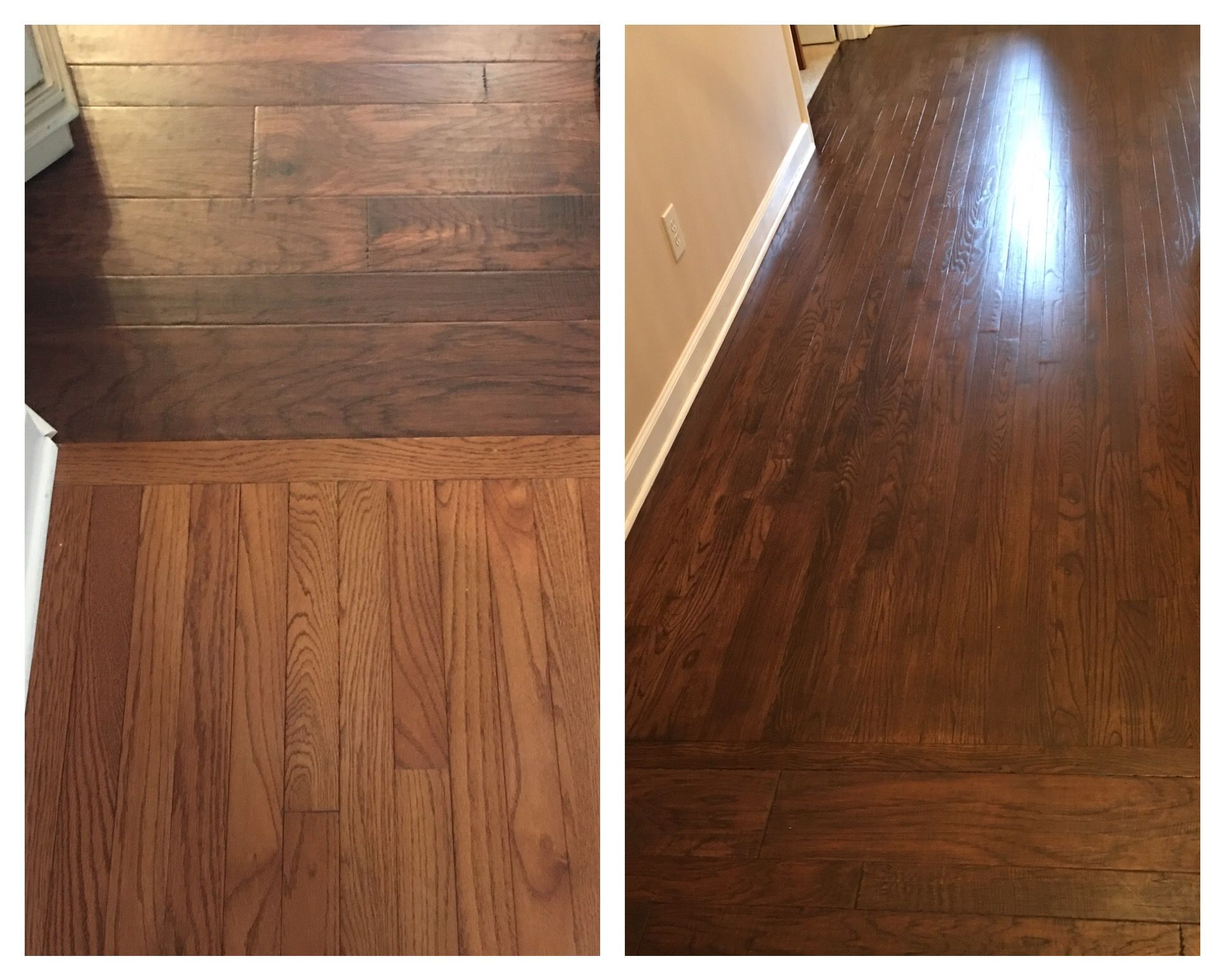 Rustoleum Driftwood Stain Old Refinished To Match New Kona Cognac Rustoleum Ultimate Wood