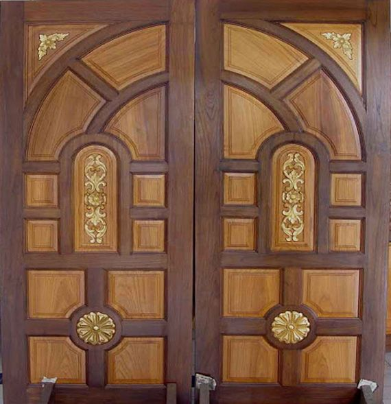 Decoration The Unaned Latest Wooden Front Double Door Designs Kerala Design With Wood Material This Is Smart Idea For You