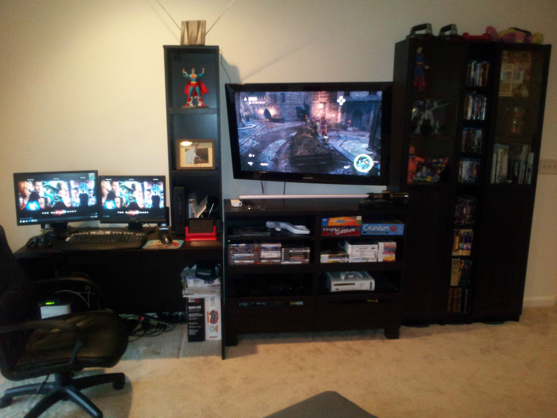 console gaming desk best home interior u2022 rh recipo co console gaming desk setup pc and console gaming desk