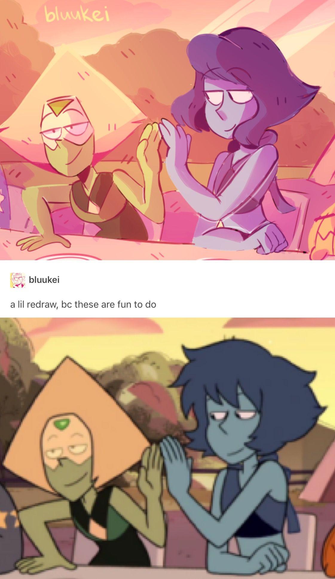 Steven Universe Lapis And Peridot Steven Universe Memes Steven