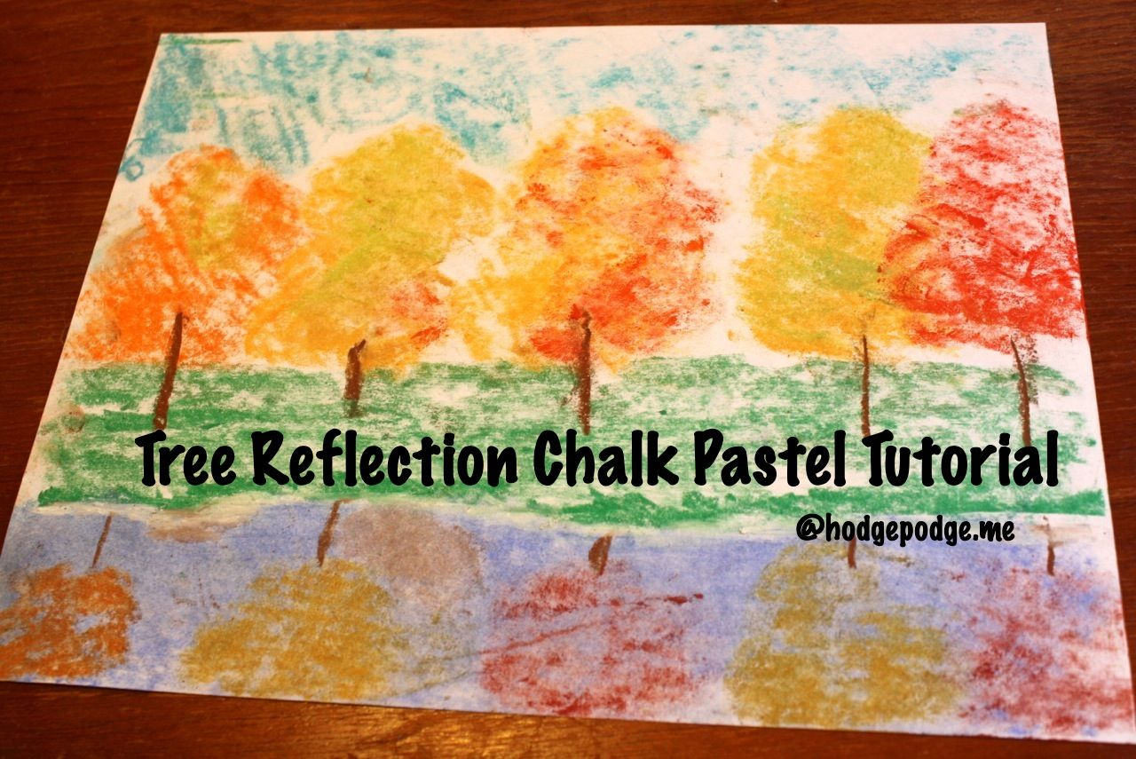 Tree Reflection: A Pastels Tutorial #falltrees