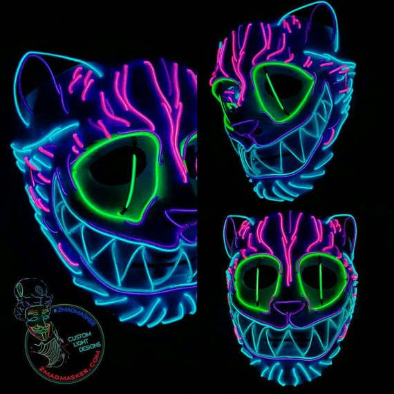 Exclusive Cheshire Cat Led Mask. Handmade EL Wire Design. | Ass2 ...