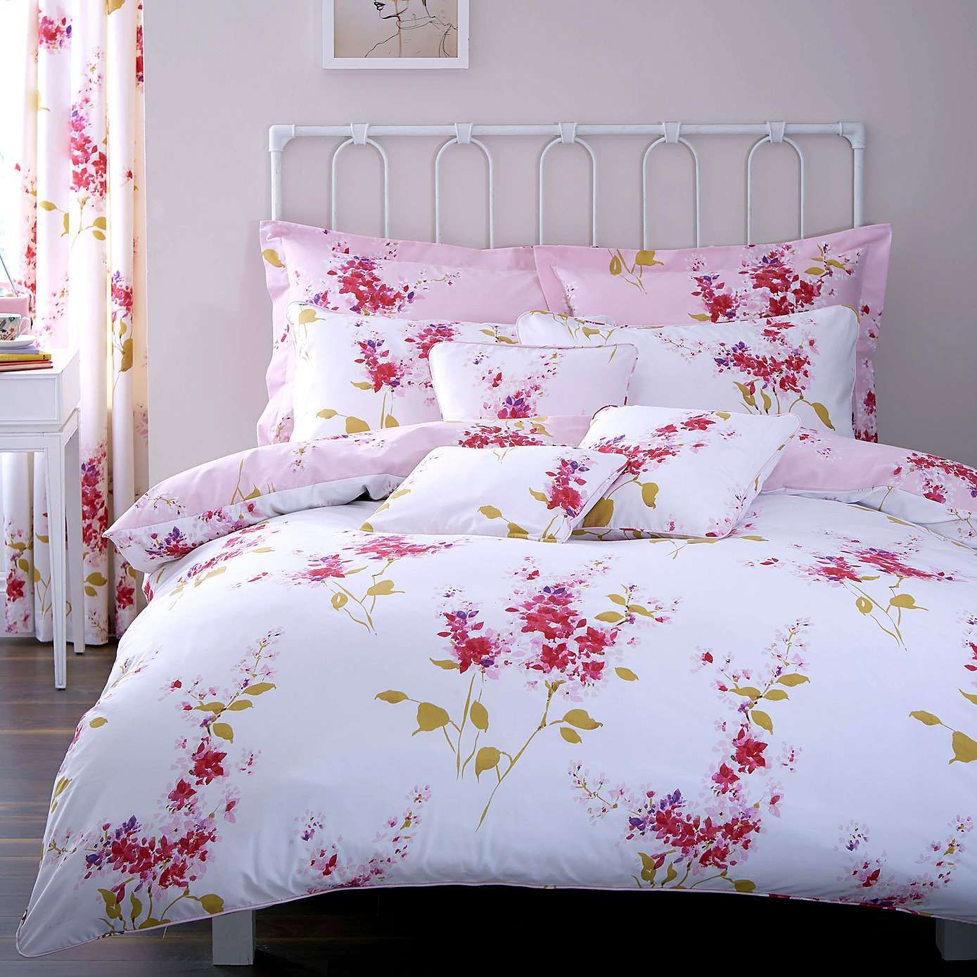 Pink Jenny Duvet Cover Set Dunelm décoration Pinterest