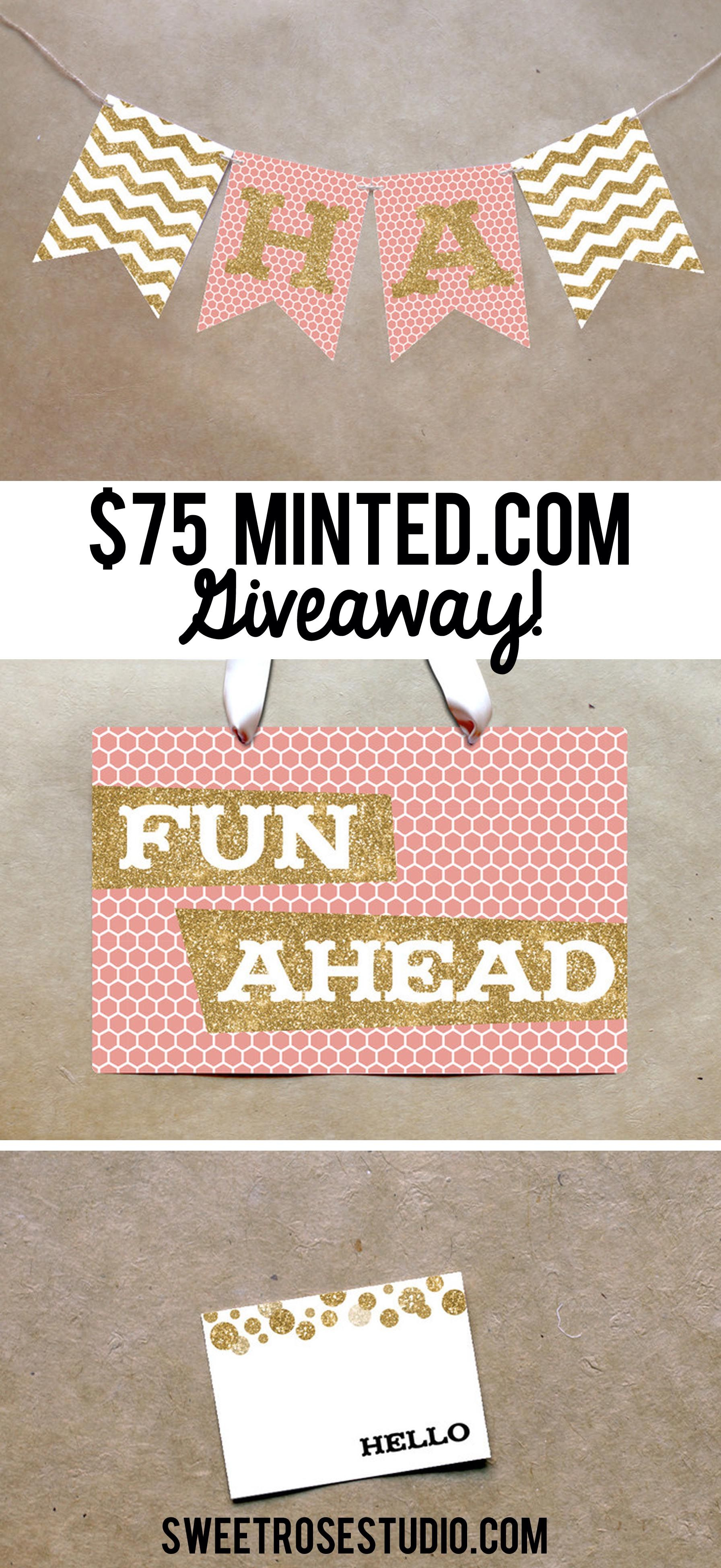$75 Minted.com Giveaway at Sweet Rose Studio! #giveaway