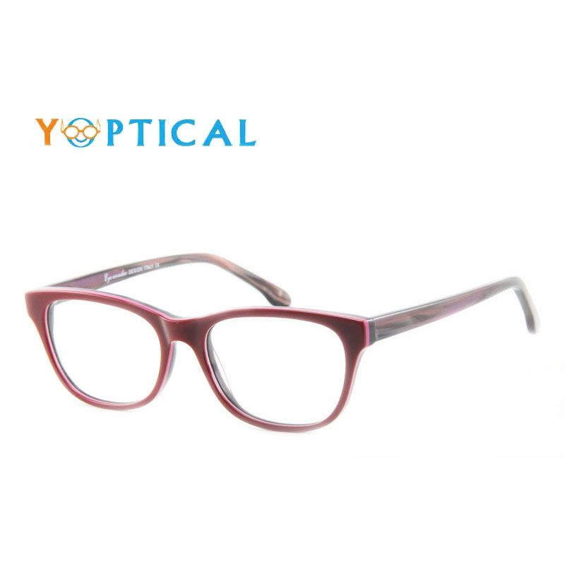 Eye wonder Women s Retro Acetate Burgundy Glasses Frames Vintage Purple  Designer Spectacle Frames Lunettes Eyewear accessories 78d75156d1ca