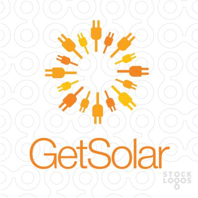 Exclusive Customizable Logo For Sale: Get Solar | StockLogos.com