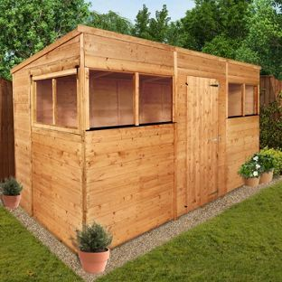 billyoh tounge and groove pent garden shed 12ft x 6ft from homebaseco - Garden Sheds Homebase