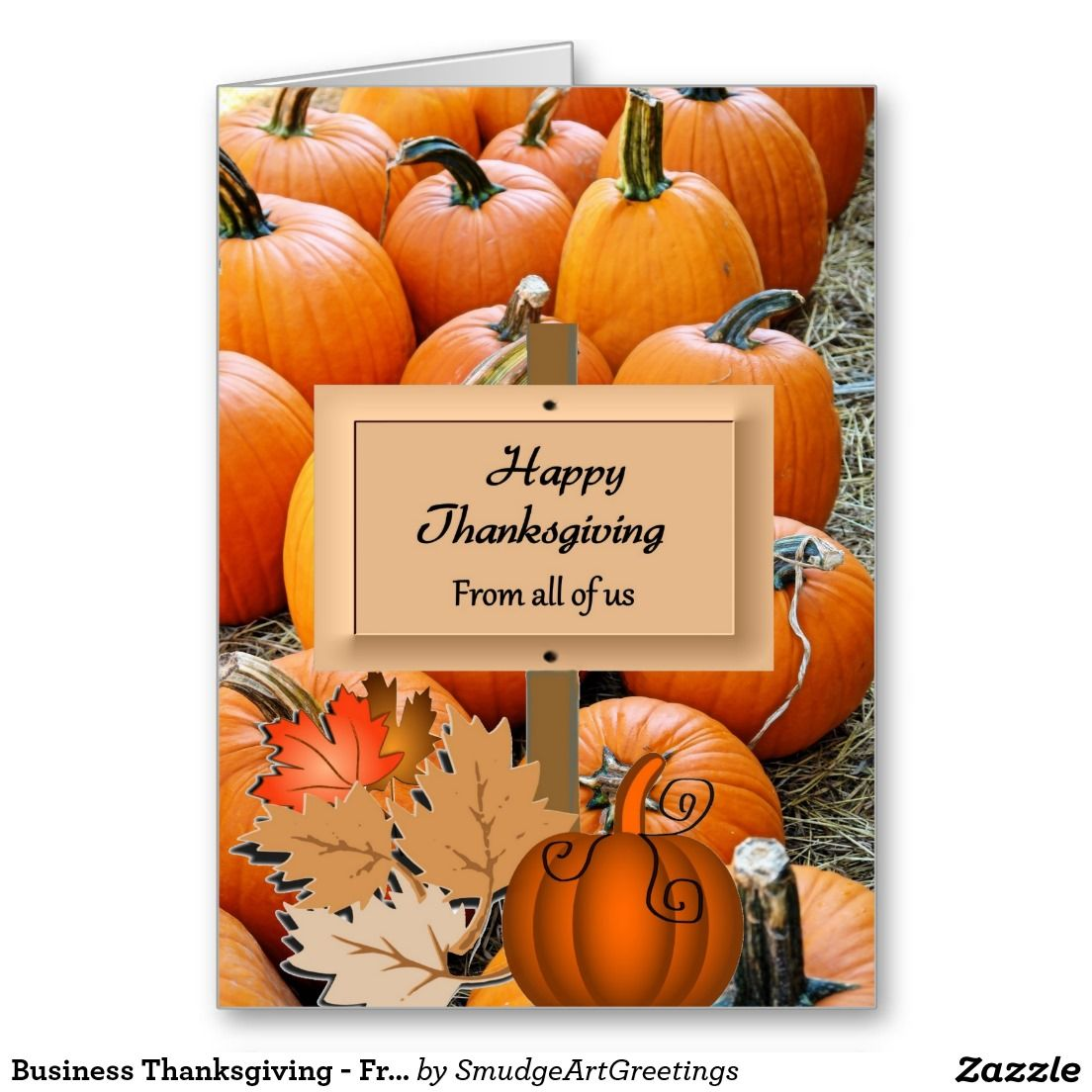 Business Thanksgiving Card Choice Image - Business Card Template