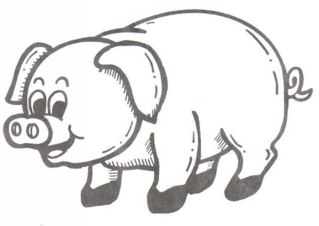 Dibujos Y Plantillas Para Imprimir Cerditos Cerdo Para