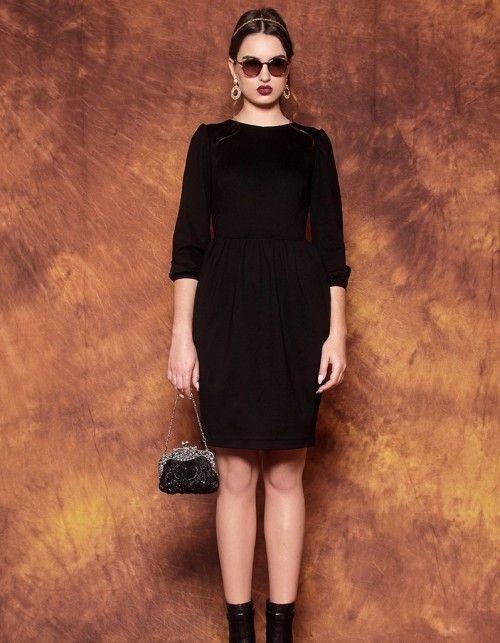 Kleid mit Tulpenrock Schwarz