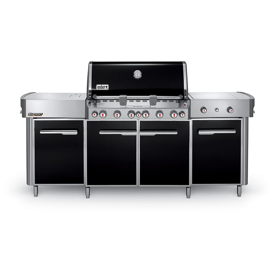 Weber Summit Black 6 Burner Liquid Propane Infrared Gas Grill With 1 Side Burner And Rotisserie Burner And Integrated Smoker Box Lowes Com Natural Gas Grill Gas Grill Propane Gas Grill