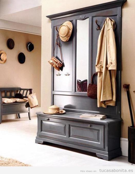 Decoración de recibidor estilo vintage 7 | mueble PILAR | Pinterest ...