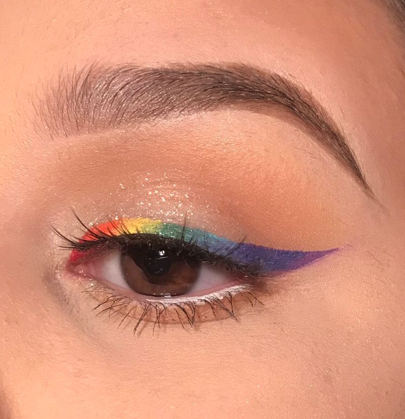 "Photo of Bianca en Instagram: ""🏳️🌈🏳️🌈🏳️🌈Feliz Orgullo!!! Yo me he divertido mucho haciendo este arco iris forro de mirar, inspirado por @acuteandrew – – – – – – – #mua #orgullo🌈 #pridemonth…"""