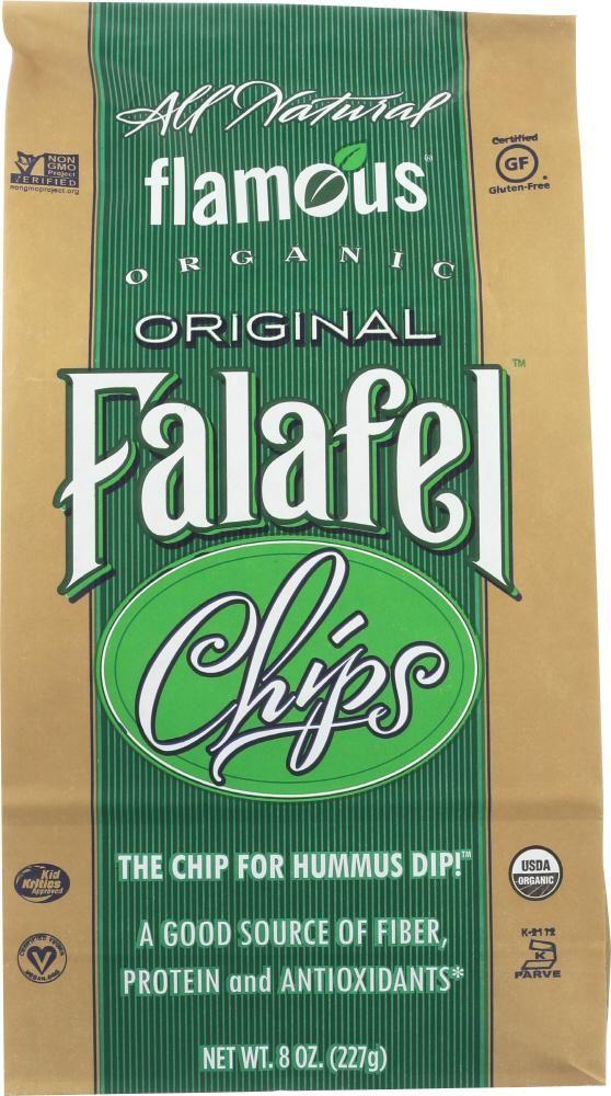 FLAMOUS: Organic Falafel Chips Gluten Free Original, 8 oz ...