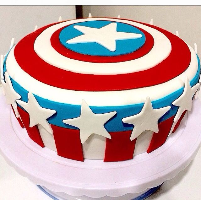 Captain America shield Cake Kids party ideas Pinterest Cake