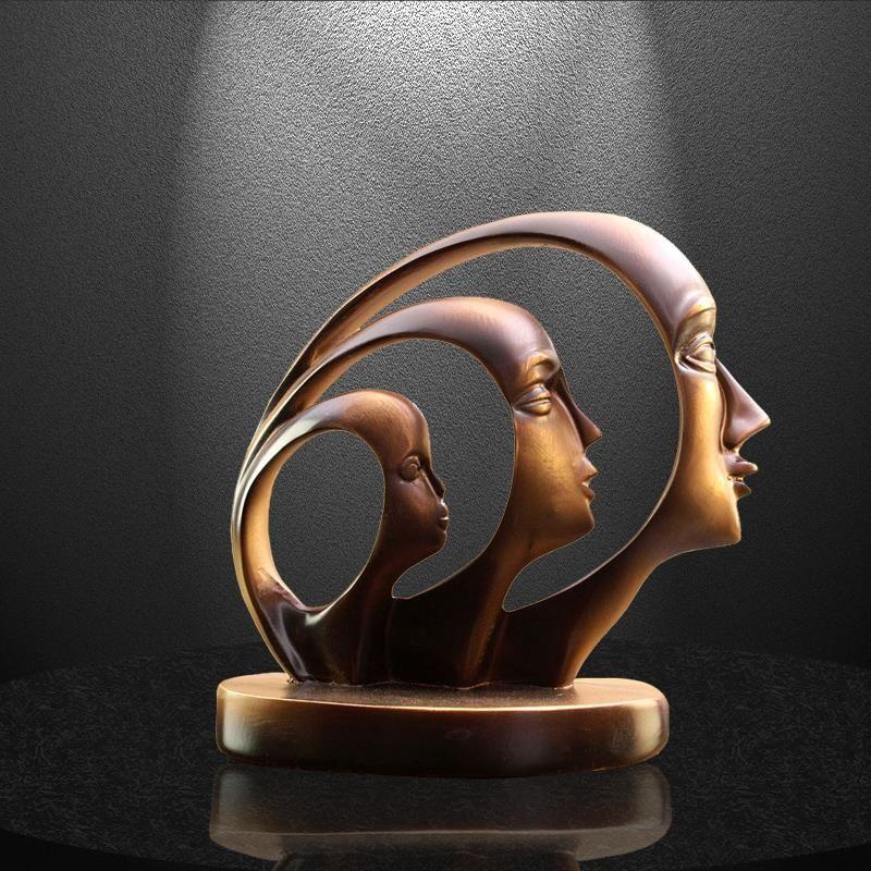 R$410.07 |Vintage três cabeças estátuas decoração para casa acessórios rosto resina abstrata escultura artes artesanato figura moderna estatueta venda-in Estátuas e esculturas from Casa e Jardim on AliExpress - #acessorios #decora #estatuas #resina #rosto #rs410 #vintage - #StatuesMuseum