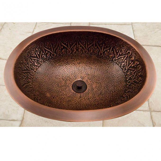 14 Baina Extra Deep Round Copper Sink Bathroom Sinks Bathroom Hammered Copper Sink Copper Sink Sink
