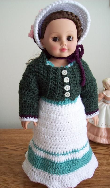 Arabella outfit-- free crochet pattern for 18\