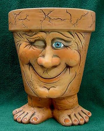 Pot People .. Winking Pot Person !