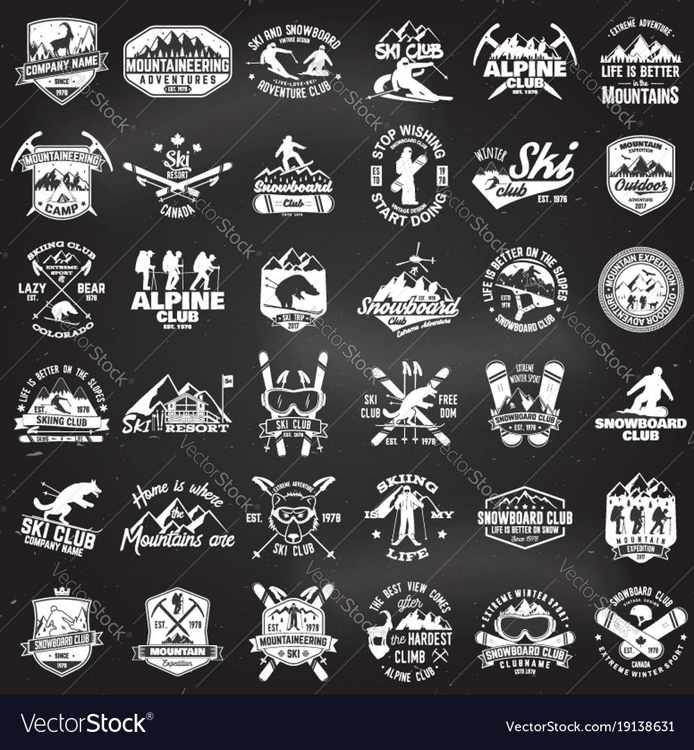 Mountain Expedition Ski And Snowboard Club Emblem Vector Image Affiliate Ski Snowboard Mountain Expedition Ad In 2020 Vector Free Happy Memorial Day Vector