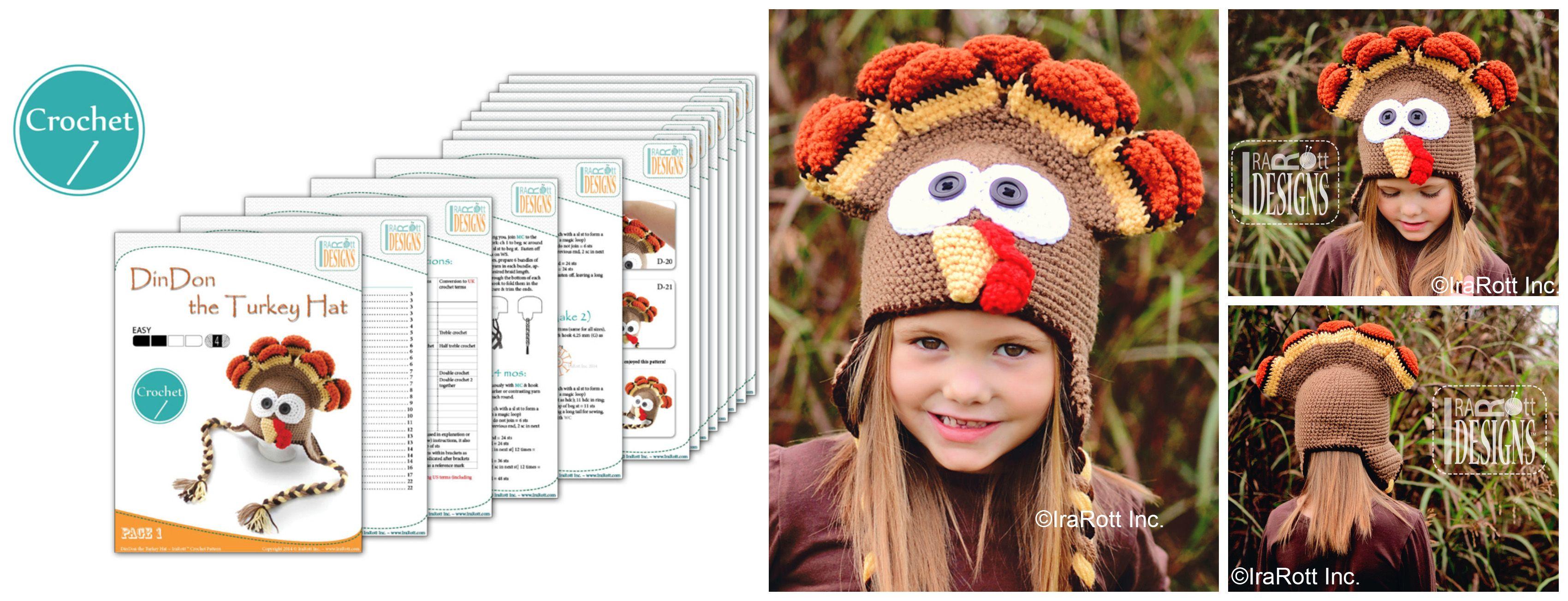 Dindon the thanksgiving turkey hat crochet pattern by irarott buy dindon the thanksgiving turkey hat crochet pattern by irarott buy 4 patterns save 20 www bankloansurffo Gallery