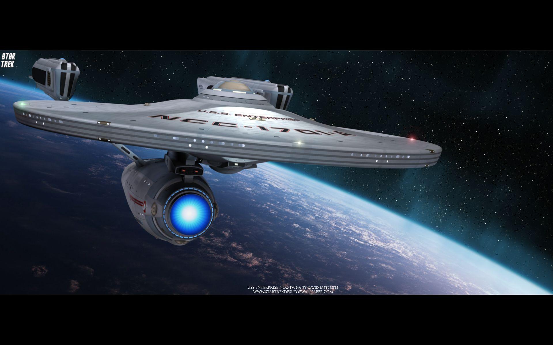 Star Trek Uss Enterprise Ncc 1701 A Free Star Trek Computer Desktop Wallpaper Star Trek Wallpaper Star Trek Starships Starship Enterprise