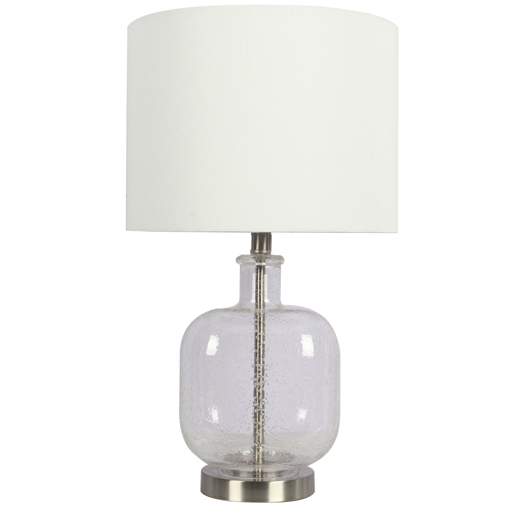 White Monza Glass Table Lamp Metal Table Lamps Lamp Table Lamp