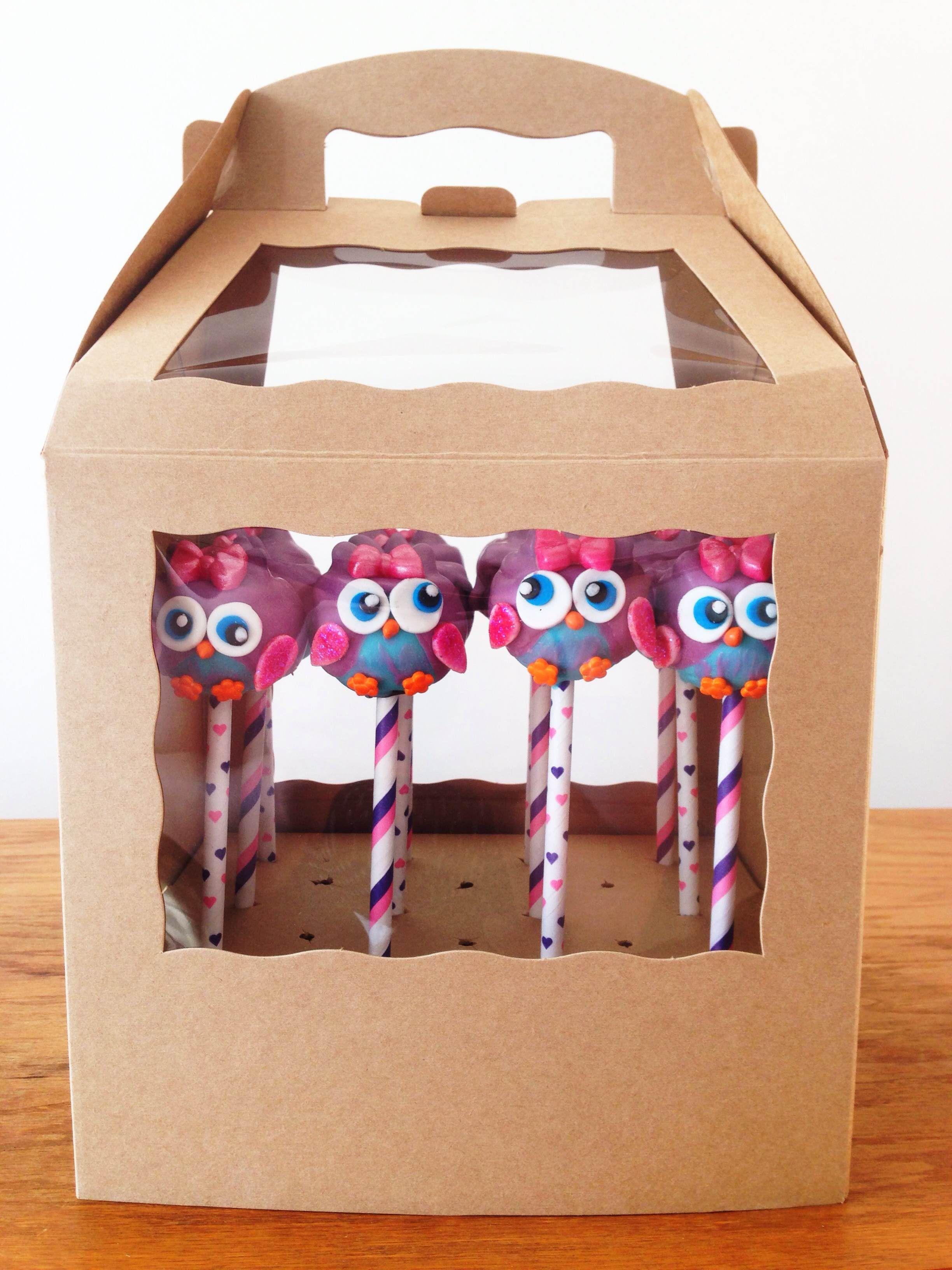 Cake pop boxes cake pop stands owl cake pops