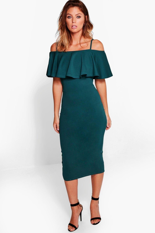 e391106203fd6 Strappy Off Shoulder Midi Bodycon Dress | clothes!!!! | Dresses ...