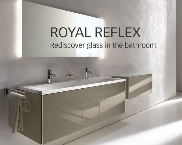 keuco royal reflex 650mm basin vanity unit in truffle