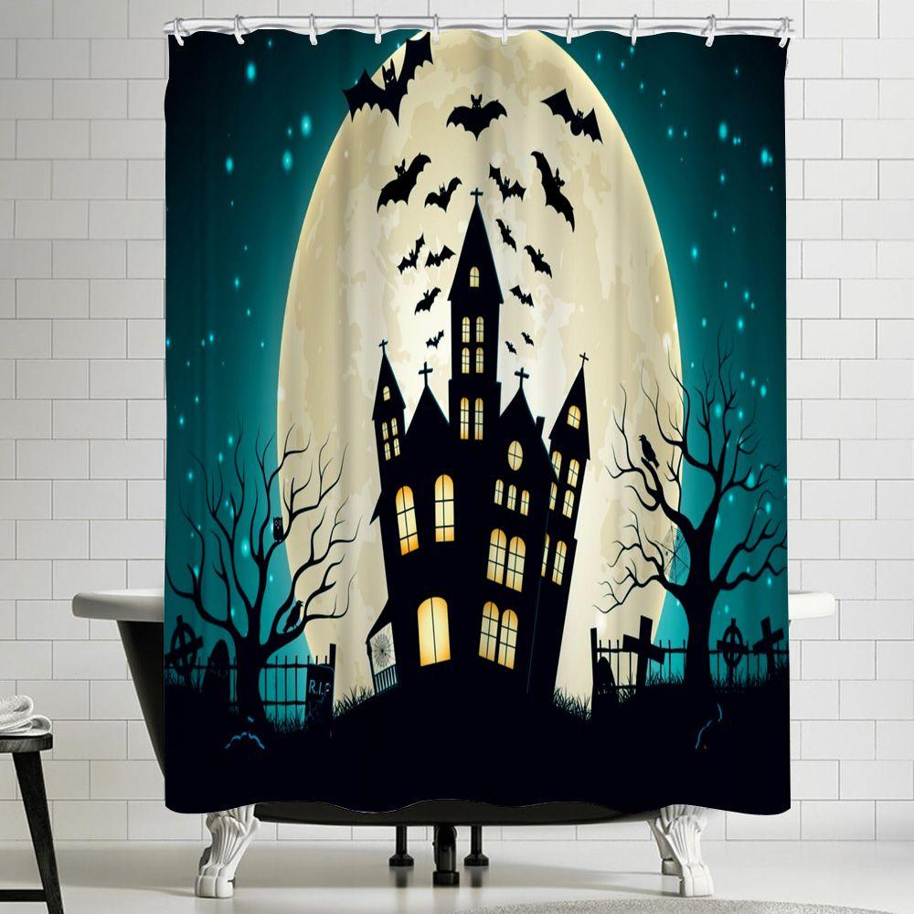 Disney Haunted Mansion Cartoon Custom Shower Curtain 100