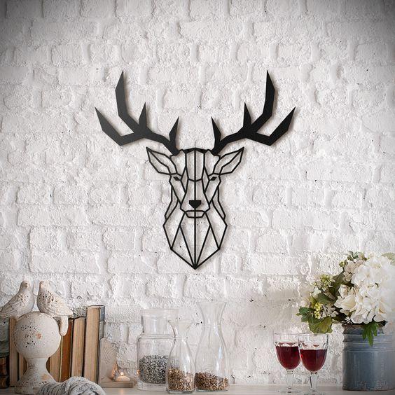 Tête de cerf en métal pour une décoration murale moderne disponible sur artwall and co décoration murale métal artwall and co pinterest cnc