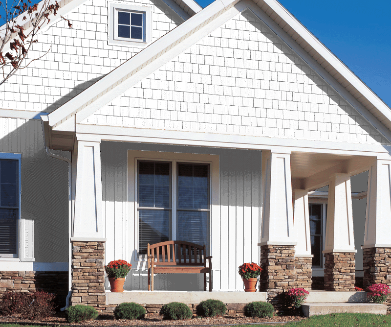 Georgia pacific vinyl siding products board and batten for Vertical house siding pictures