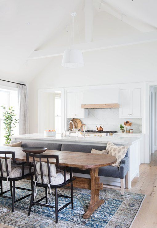 These Kitchen Islands With Bench Seating Beat Barstools