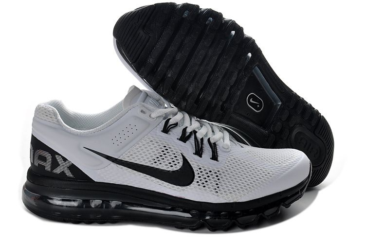 Nike Air Max 2013 Mens Running Shoe White Black Id 1351