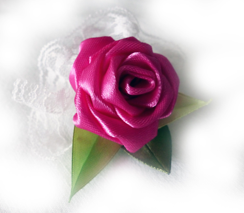 Diy Handmade Satin Ribbon Rose Roza Wstazka Satynowa Roza Iz Atlasnoj Lenty Ribbon Roses Satin Ribbon Roses Diy Handmade