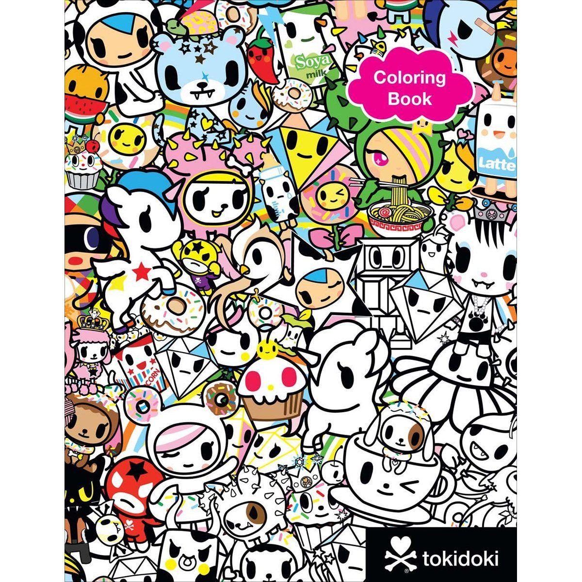 Shop Tokidoki Coloring Book At Artsy Sister In 2021 Sketch Book Coloring Books Hardcover Book