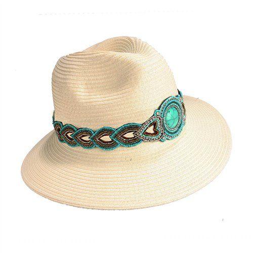 3d893c7ce0ba4 Sombrero decoración piedra color turquesa