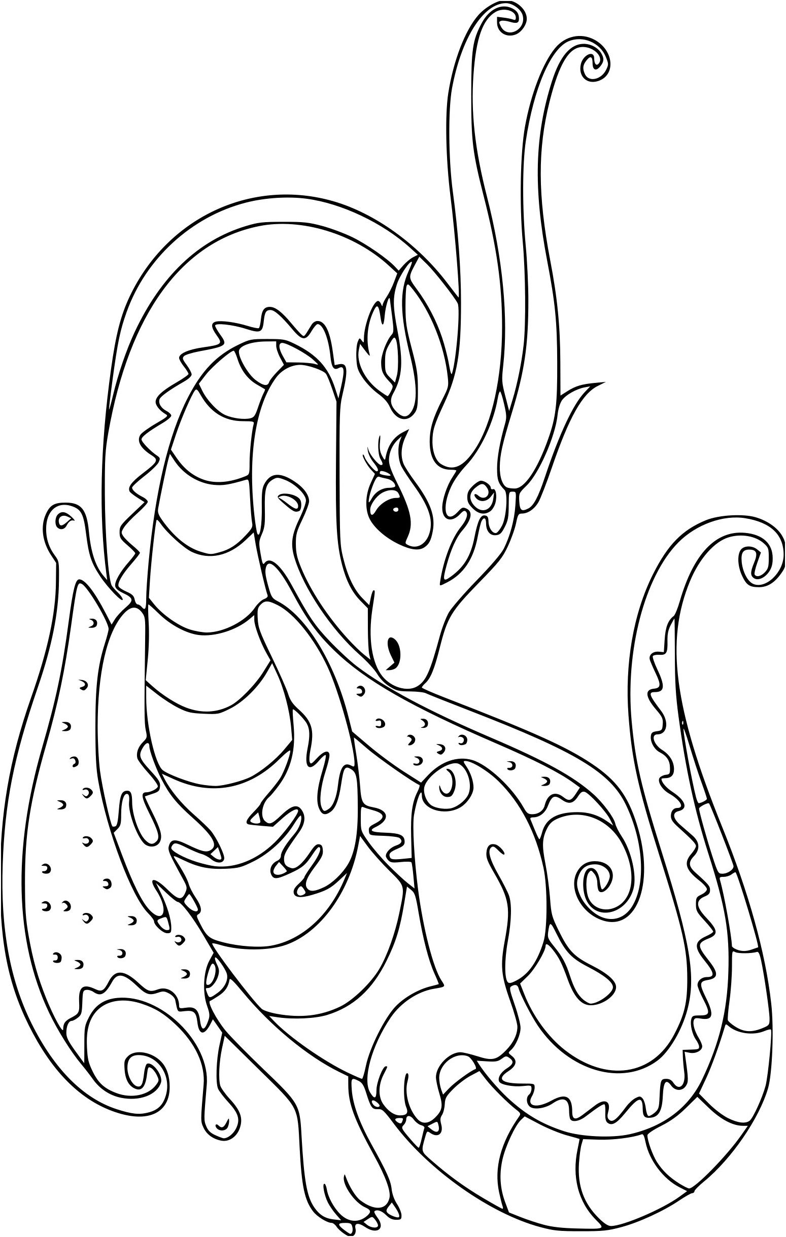 Pin By Candaceschwitz On Tattoo Drawings Dragon Coloring Page