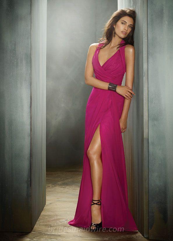 Raspberry Chiffon Bridesmaid Dresses