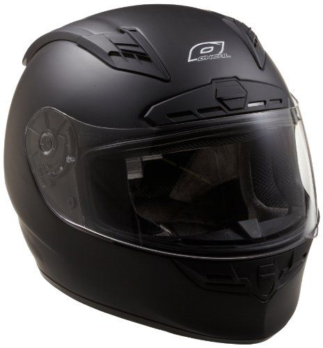 c79fd2b3 O'Neal Fastrack II Motorcycle Helmet with Bluetooth Technology (Flat Black,  Large)