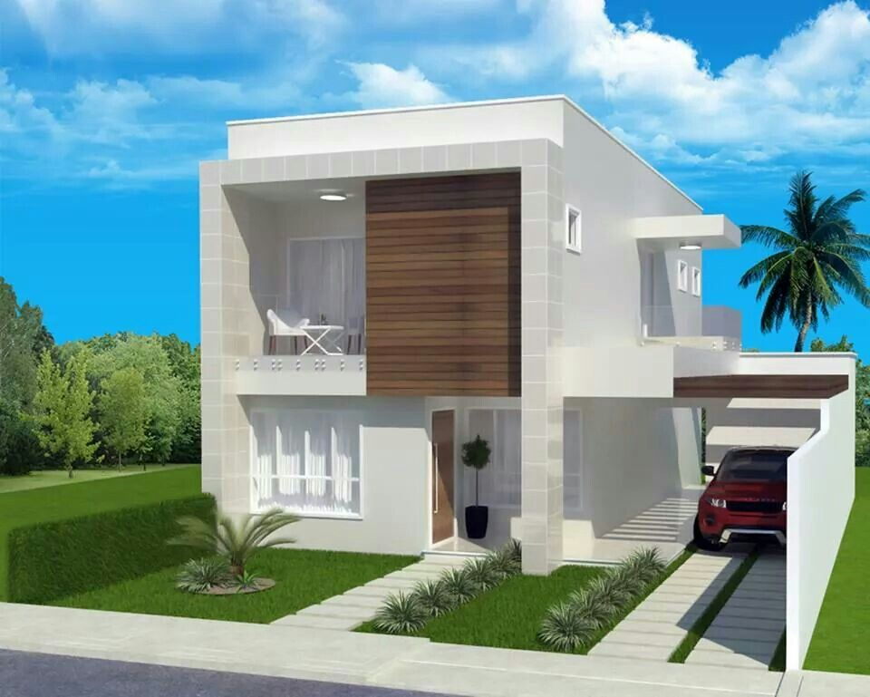 Fachada sobrado projeto casa pinterest fachada for Fachada apartamentos pequenos
