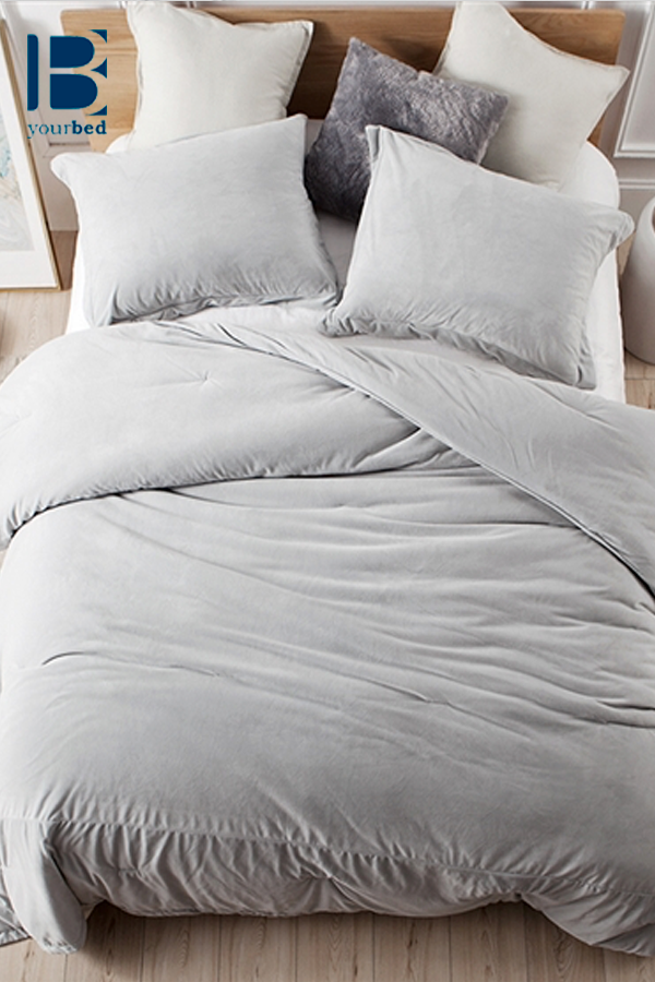 Coma Inducer   Baby Bird Comforter   Glacier Gray   Bed comforters