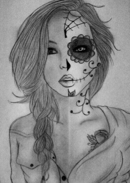 sugar skull girl by 7owlsdeviantartcom on deviantart