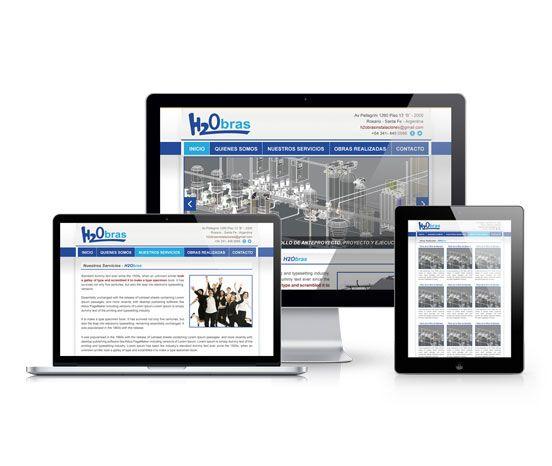 Diseño del Sitio Web de H2Obras