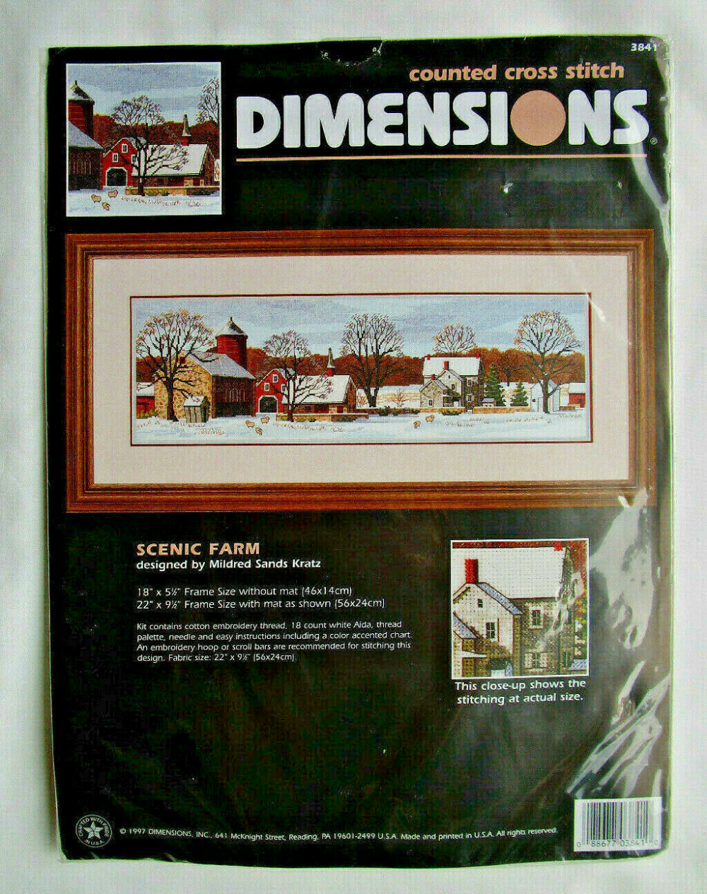 Scenic Farm Dimensions Counted Cross Stitch Kit