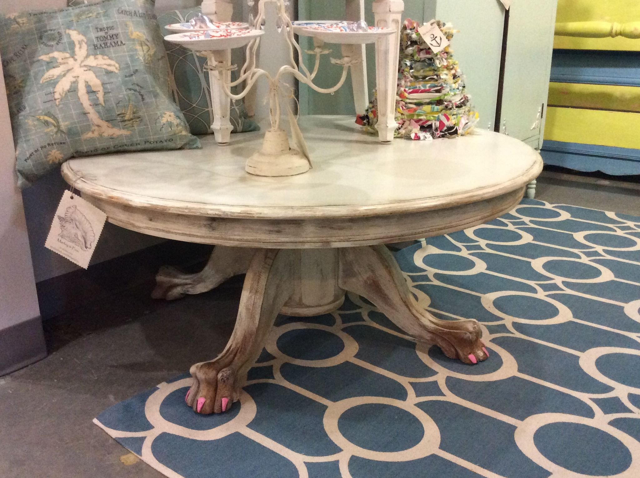 Salvaged Claw Feet Used To Create Amazing Coffee Table Available 499 Sold Coffee Table Pedestal Coffee Table Fusion Furniture [ 1530 x 2048 Pixel ]