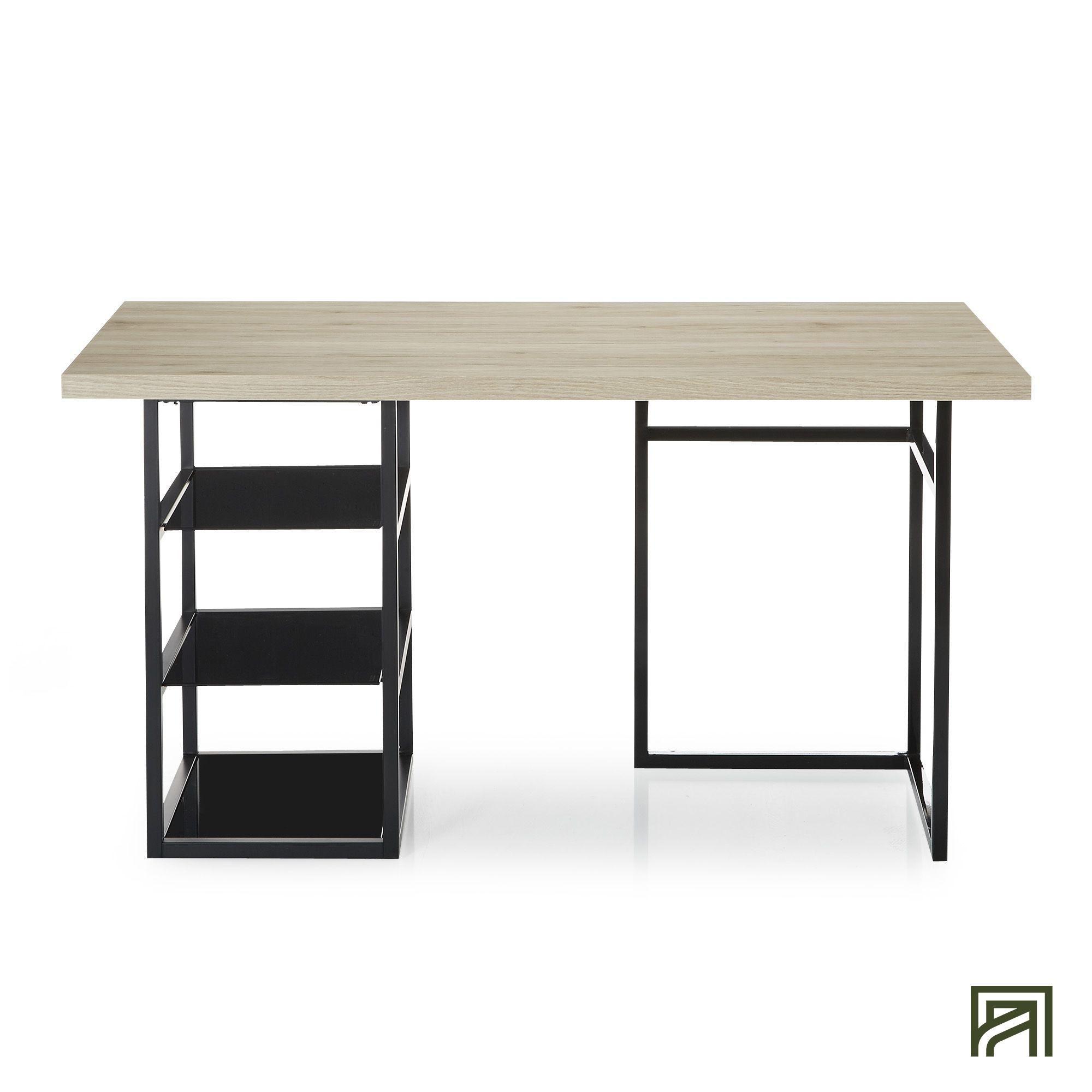 Alinea Ludo Bureau 75x150cm Avec Treteau Et Caisson Ouvert 3 Tablettes Alinea Decoration Bureau Table Mobilier De Salon Meuble Deco Meuble Design