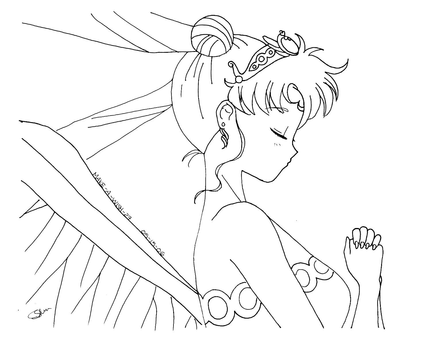 Neo Queen Serenity By Make A Wish27 Sailor Moon Coloring Pages Sailor Moon Fan Art Moon Coloring Pages